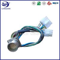 Intercontec 623 19pin connector add 5557 8PIN wiring harness for Communication equipment