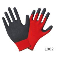 13G nylon/polyester liner gloves,natural latex palm coated, crinkle finished thumbnail image