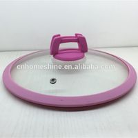 tempered glass lid with silicone rim thumbnail image