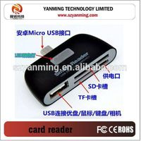 OTG Micro USB 2.0 SD TF Card Reader for Samsung Galaxy S3 S4 Smartphone