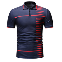 Full Digitial Sublimation Printed men's polyester fashion polo shirts