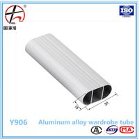 china manufacturer wardrobe aluminum oval tube