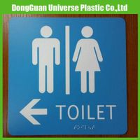 Customized braille signage toilet signs