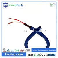 Flexible dual jacketed rov underwater umbilical cable