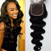 Human virgin hair body wave with closures brazilian/malaysian/indian/peruvian hair natural black hai