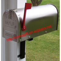 Aluminum US Mailbox Classic American Letterbox Postbox with red flag thumbnail image
