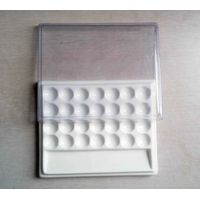 Dental Ceramic Mixing Slab ( Plate),28 Slots , having plastic Cover