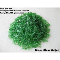 Green glass cullet