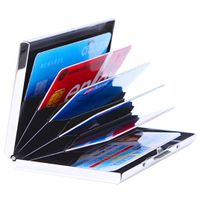 Ultra Thin Aluminum Metal Case RFID Blocking Credit Card Holder