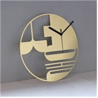 A Stainless Interior Clock (model name : Love Korea Spot-Seoul )