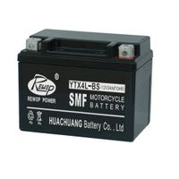 SMF Motorcycle battery, YTX4L-BS, rechargeable, maintance free, seled lead acid battery, UPS battery