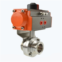 Stainless Steel Sanitary Pneumatic Butterfly Valve thumbnail image