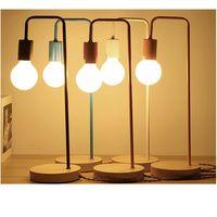 Reading wood and metal Table Lamp Desk Lamp metal colorful