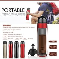 Vacuum flask french press coffee mug coffee maker travel mug
