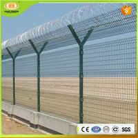 Wholesale 358 High Security Anti Climb Y Shaped PVC Coated Airport Fence with Razor Barbed Wire 1\ 3