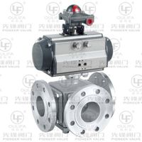 Flanged Three Way Ball Valve