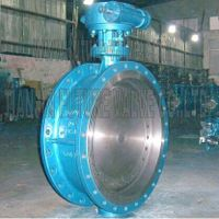 Pn10 Dn700 Three Triple Offset Flanged Butterfly Valve Flange with Gearbox