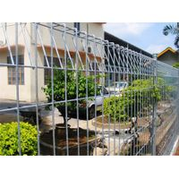Rigid galvanized welded wire fence with bending top