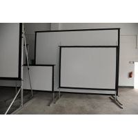 fast fold screen with front and rear material
