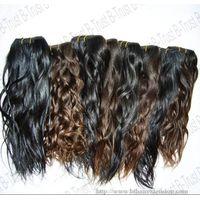 Natural raw virgin peruvian hair weft thumbnail image