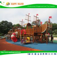 2015 Popular Food Grade Material Kids Pirate Ship Play StructureShip Large Outdoor Playground Slide thumbnail image