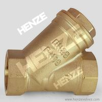 Brass Threaded Y Type Check Valve