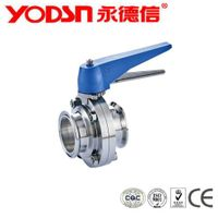 Stainless Steel Diary manual  butterfly valve with pull handle, butterfly valve handle thumbnail image