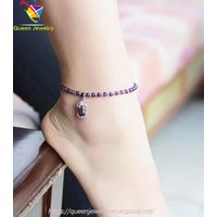 sand and stone jewelry Natural amethyst anklet Adjustable Handmade bangle baby girl jewelry
