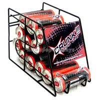 Bottle Beer Commercial 4-Layer Custom Logo Metal Can Beer Display Rack