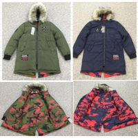 Men's reversible Parka Winter Coat stock lot Middle aged and elderly coat readymade parka