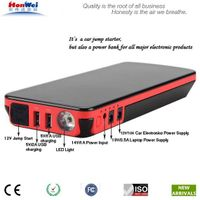 Newest arrival multifunction auto battery jump starter made by Shenzhen manufacturer