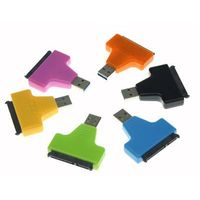 SuperSpeed USB 3.0 to SATA III Adapter - USB 3 to SATA 3 Converter Adapter for 2.5in or 3.5in HDD an