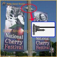 Metal Street Light Pole Advertising Flag Device
