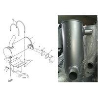 Excavator Muffler For Kobelco,Volvo ,Mitsubishi,Sumitomo Etc excavator exhaust muffler
