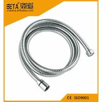 304 stainless steel flexible bathroom shower hose with brass fittings