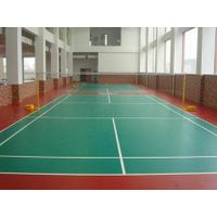 indoor sports flooring litchi pattern blue color