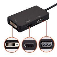 High Speed Mini Displayport Dp Male To Dvi Female Vga Female Hd mi Female 3 In 1 Cable Adaptor thumbnail image