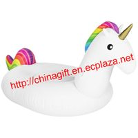 Giant Inflatable Unicorn Pool Float - Large Outdoor Swimming Pool Floatie Lounge