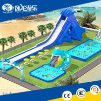 hot exciting giant inflatable water park