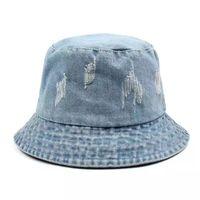 High Quality Washed Denim Custom Fashion Bucket Hat(65050099) thumbnail image