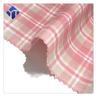 Cheap price woven plaid 100% polyester fabric for shirts