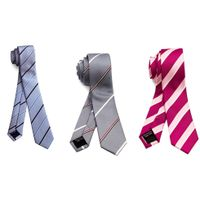 Mens Fancy Polyester Necktie Custom Company School Logo Woven Handmade Neck Ties thumbnail image