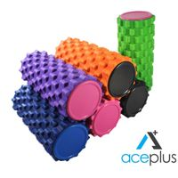 Hot Sale Yoga Crossfit Exercise EVA Grid Foam Roller with Cap