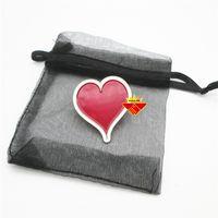Heart Shape Enamel Lapel Pin Badge thumbnail image