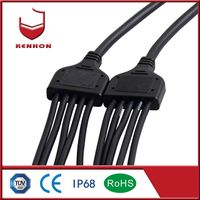 Y type IP67 5 pin 240v 3 way water resistant cable connector