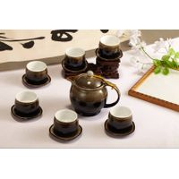 Special black ceramic coffee & tea sets with Chinese characteristic