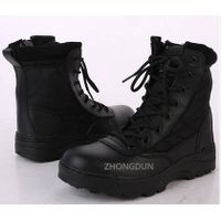 leather upper rubber sole military boot ZD118