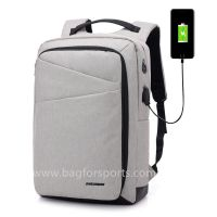 Lightweight Laptop Backpack USB Port Water Resistant 15.6 Inch Business Slim Back Pack Travel Bag thumbnail image