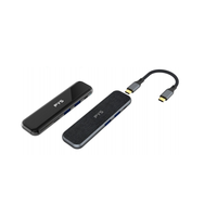 Power AC DC USB3.1 USB C to HDMI+USB C +SDTF +USB +Audio Adapter