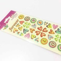 Gift Decoration Glitter Sticker Non-Toxic Puff Stickers